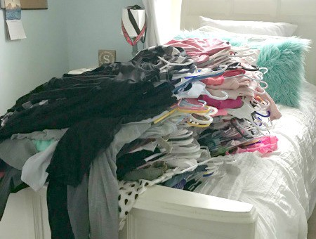 Get rid of clothes you do not wear or need.
