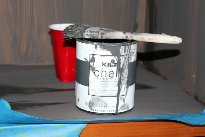 Honest review of Kilz chalk paint in Roasted Poppyseed color.