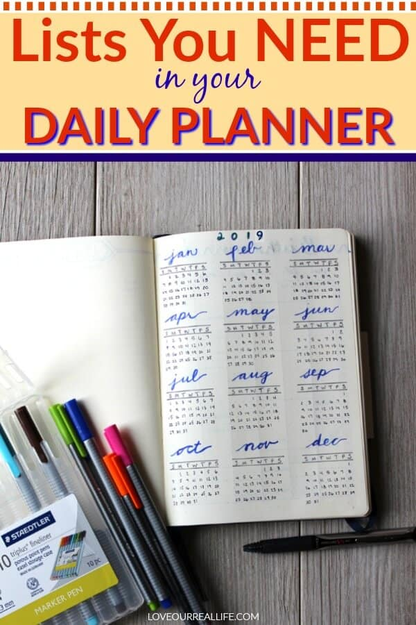 Lists You Need in your Daily Planner
