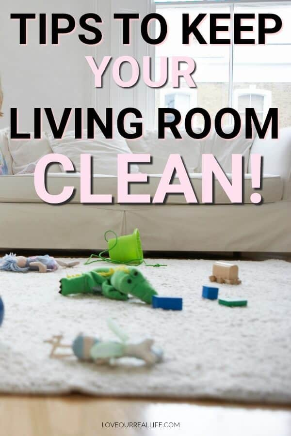 Tips to keep your living room clean