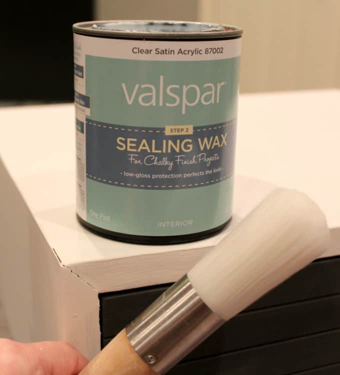 Valspar Sealing wax to seal chalk painted furniture