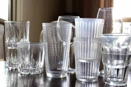 Cleaning hack for water marks on glasses.