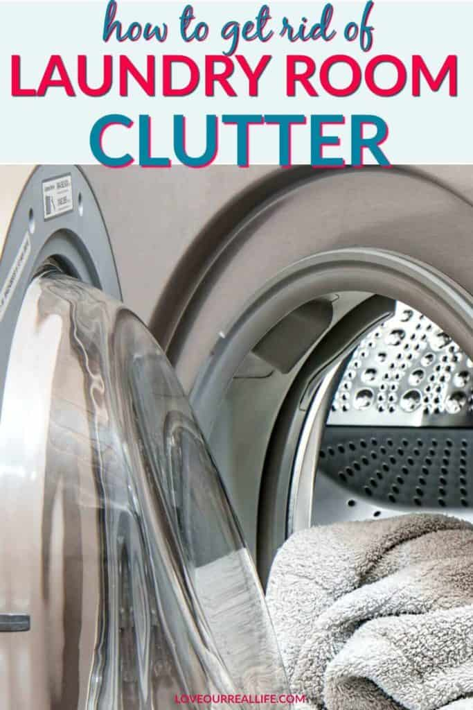 How to get rid of laundry room clutter.