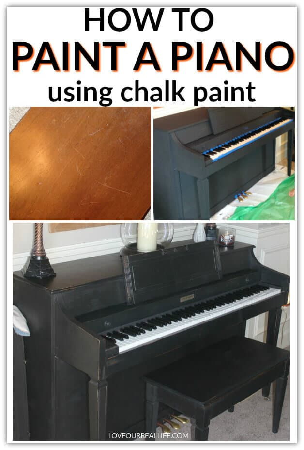 How to paint a piano using chalk paint.