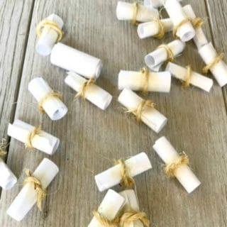 Mother's Day Gift: Home made scroll messages for mom