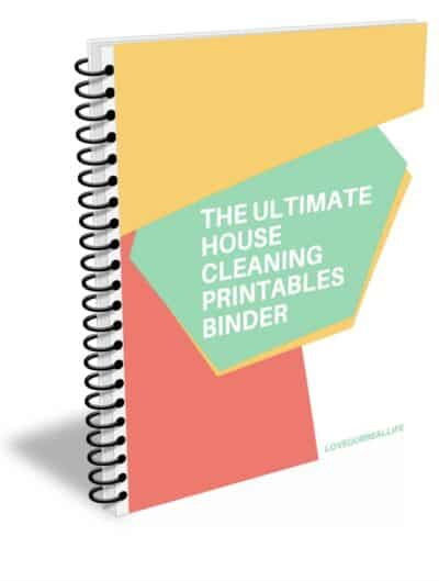 The ultimate house cleaning printables binder 3D cover