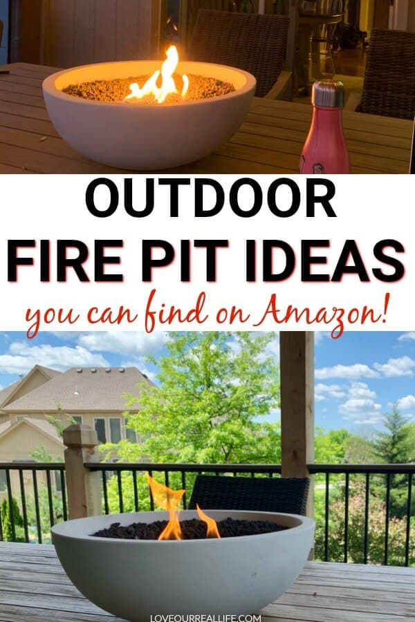 Outdoor fire pit ideas you can find on Amazon
