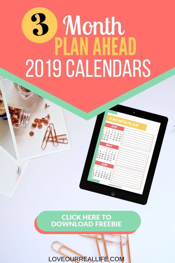 3 month plan ahead 2019 calendars.