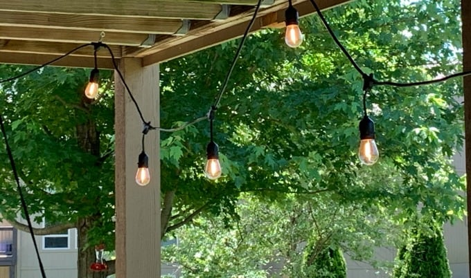 Outdoor lights on patio