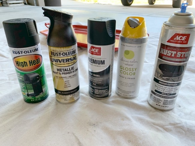Selecting spray paint for lantern