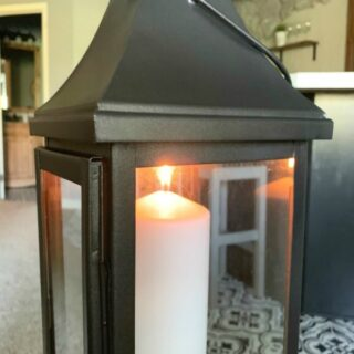 spray painted lantern feature image