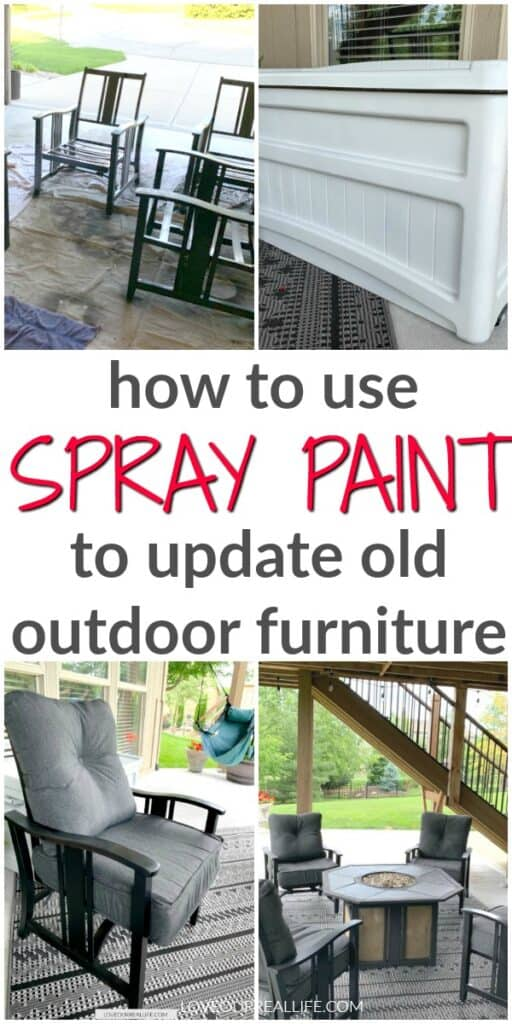 how to use spray paint to update old outdoor furniture