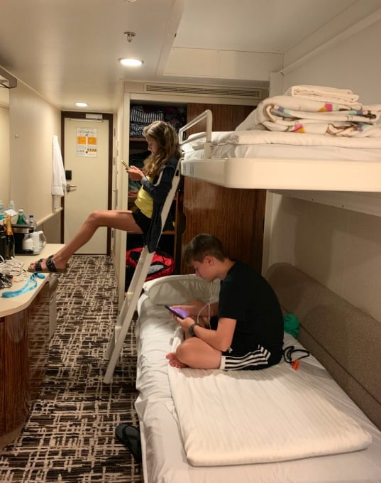 Bunk bed on Norwegian Breakaway cruise ship