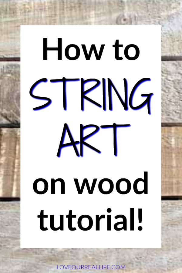 How to string art on wood tutorial.