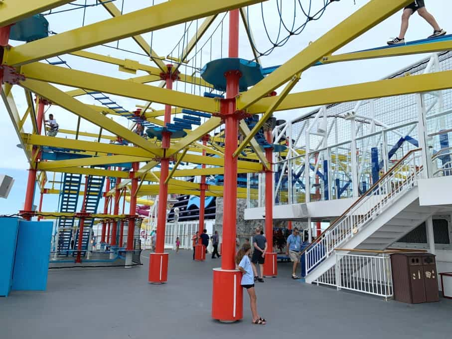 Ropes course on Norwegian Breakaway cruise ship