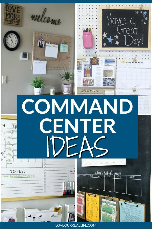 Command Center ideas for an organized home.