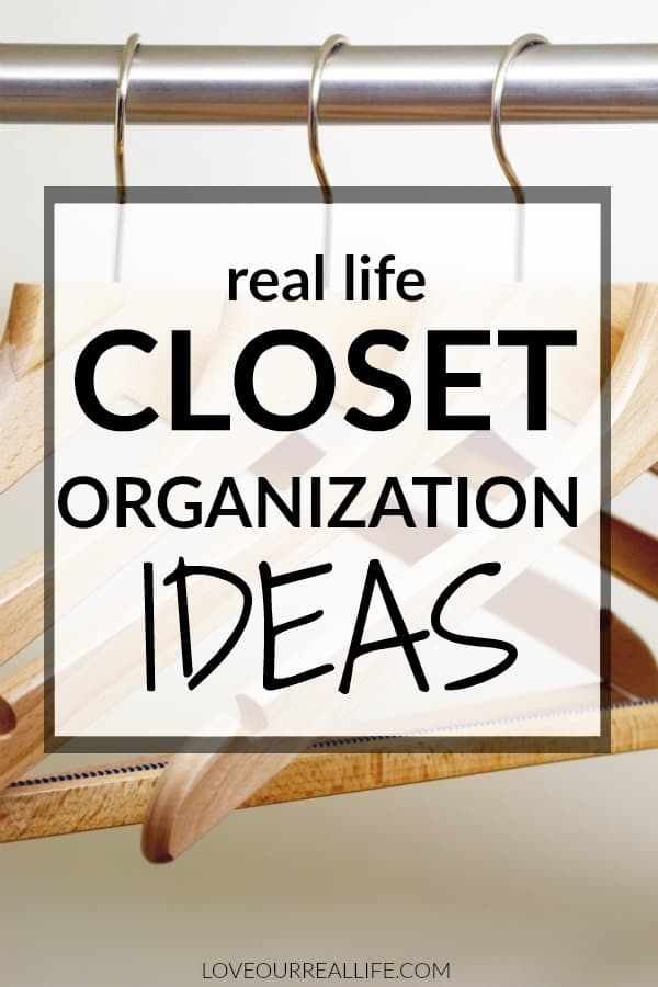 Real life closet organization ideas for walk in closets.