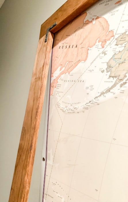 Hang frame directly over map