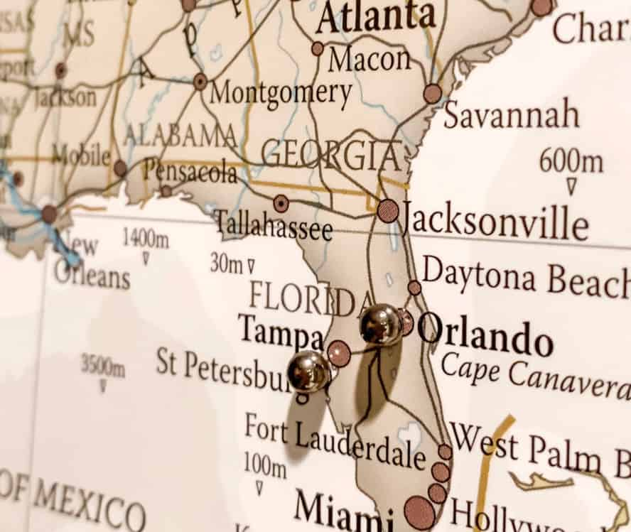 Places I've been travel map up close image