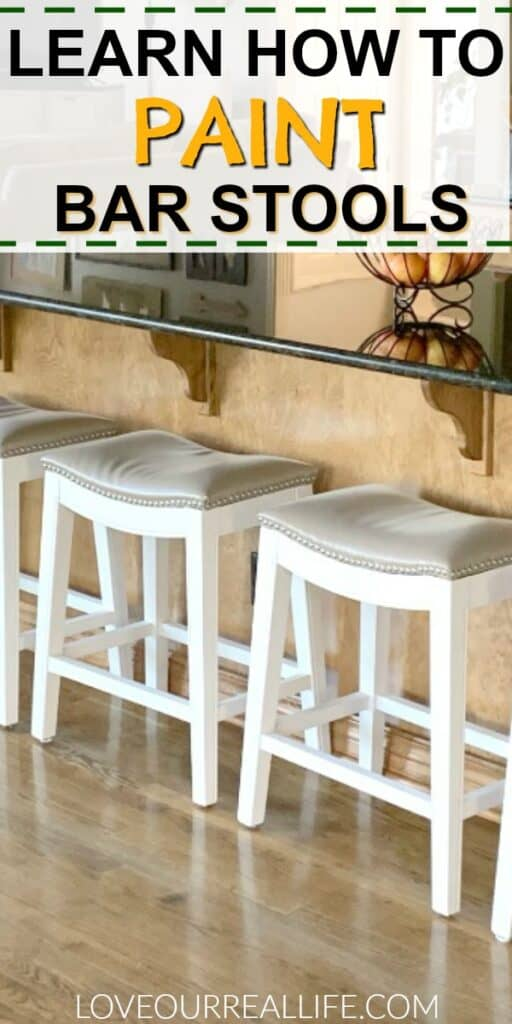 Learn how to paint bar stools with this simple tutorial.