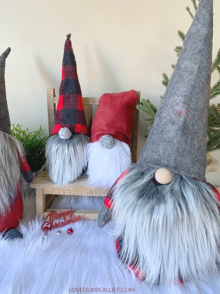 christmas gnomes with mongolian fur beards