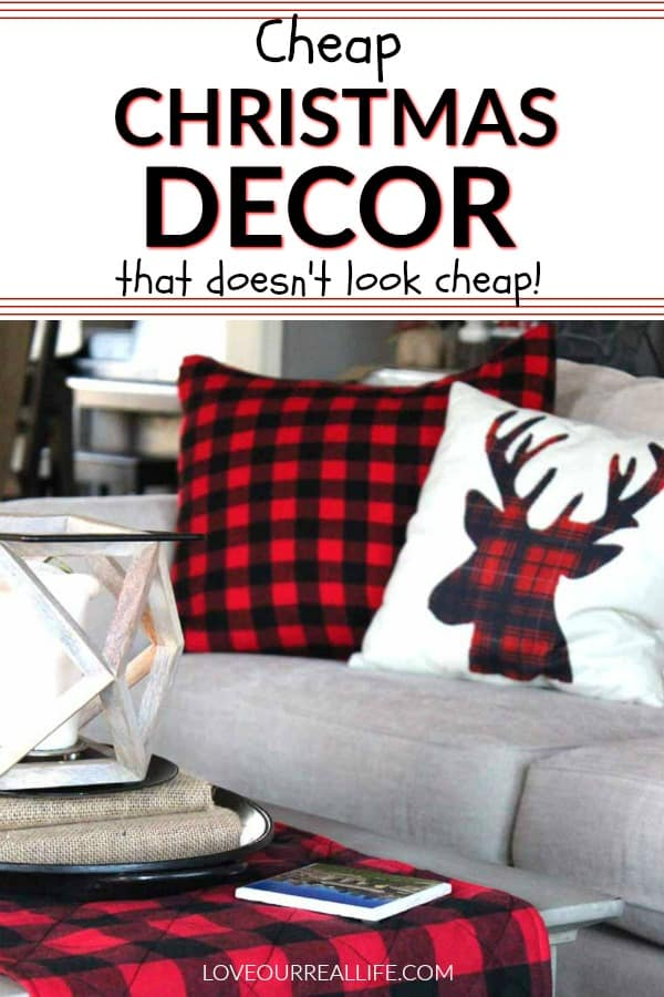 buffalo plaid pillows and table runner