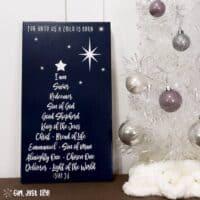 DIY Christmas Tree Word Art Sign