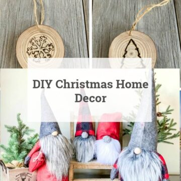 christmas crafts: gnomes and engraved wood slices