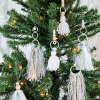A Bohemian Christmas tree. Let's do a tassel boho ornaments DIY