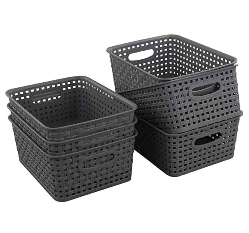gray baskets