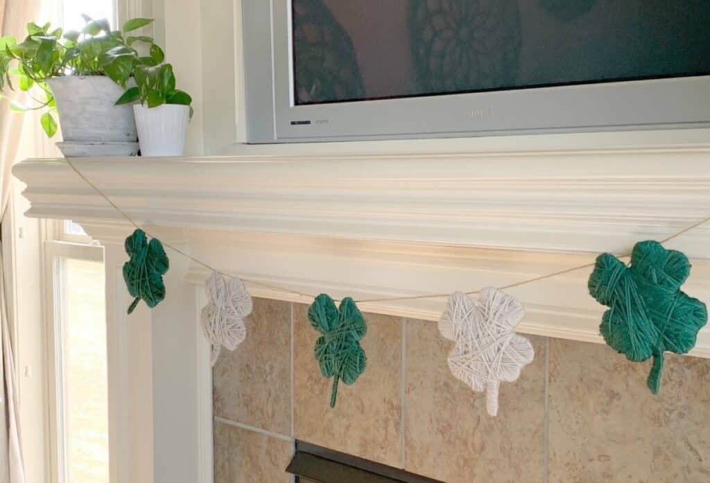 mantel with seasonal decor
