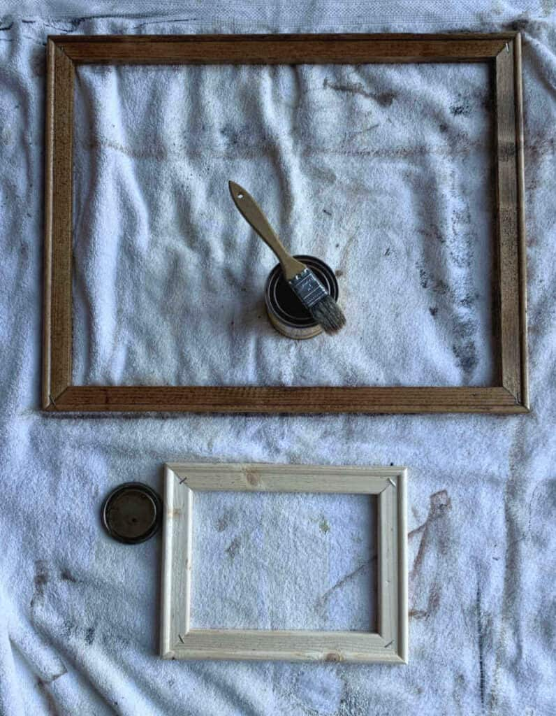 Stain frame for diy canvas sign