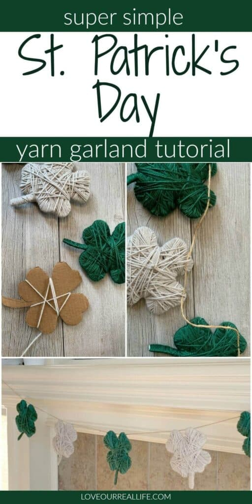 tutorial for st patricks yarn garland