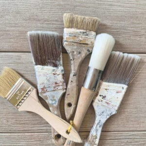 several used paint brushes