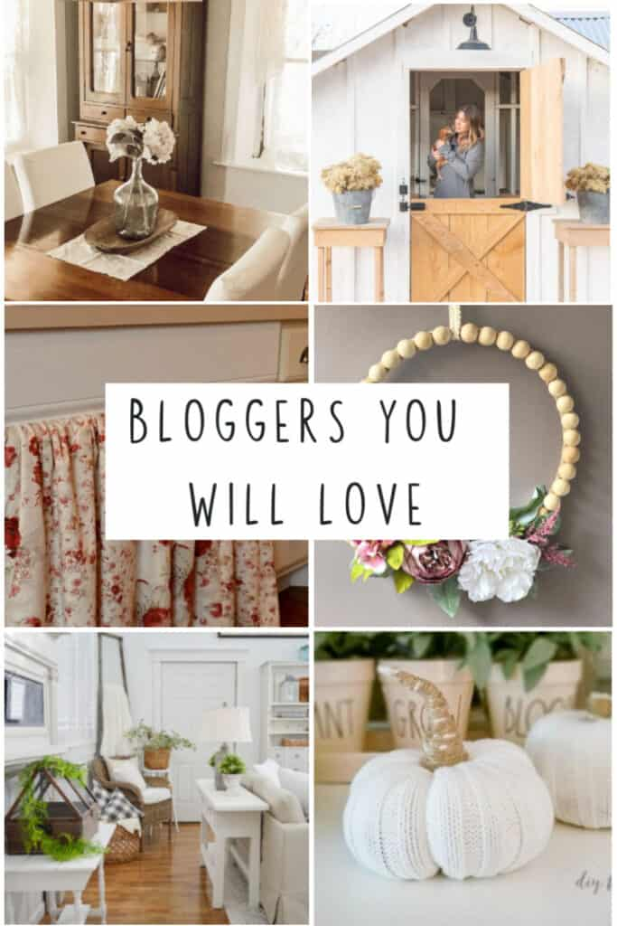collage of home bloggers diys