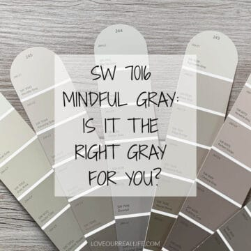 various gray paints on color swatches