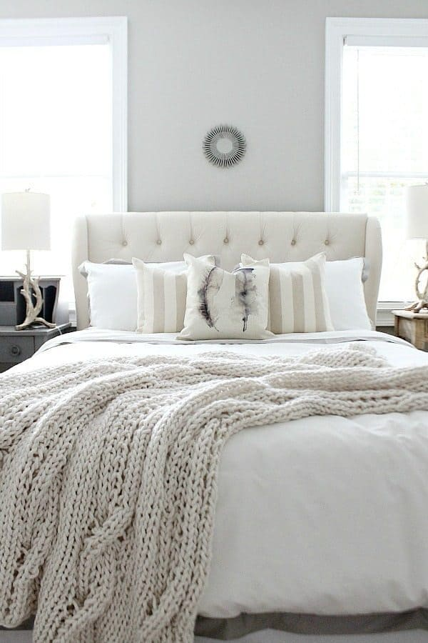 neutral gray walls in bedroom by Refresh Style