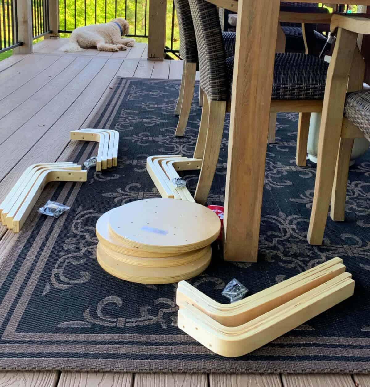 assembling Costway stools