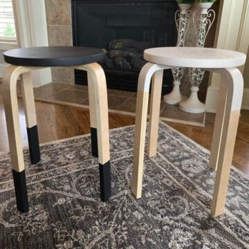 dipped chair legs