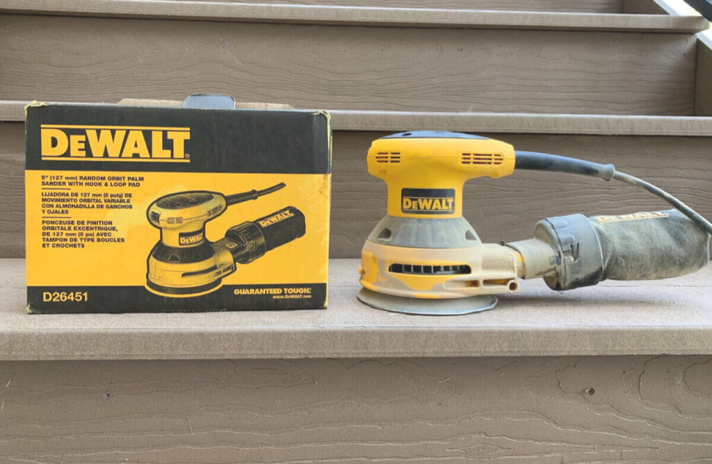 DeWalt Orbit Palm Sander with Hook and Loop pad