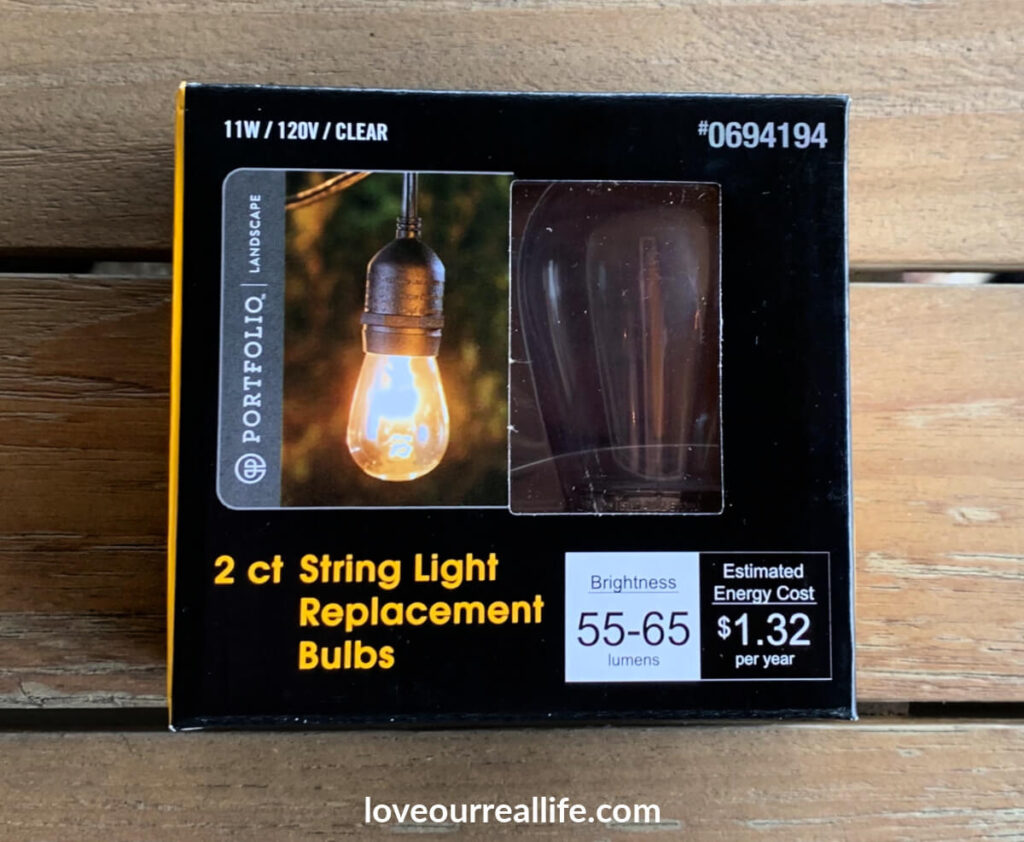 wet bulb replacement for outdoor string lights
