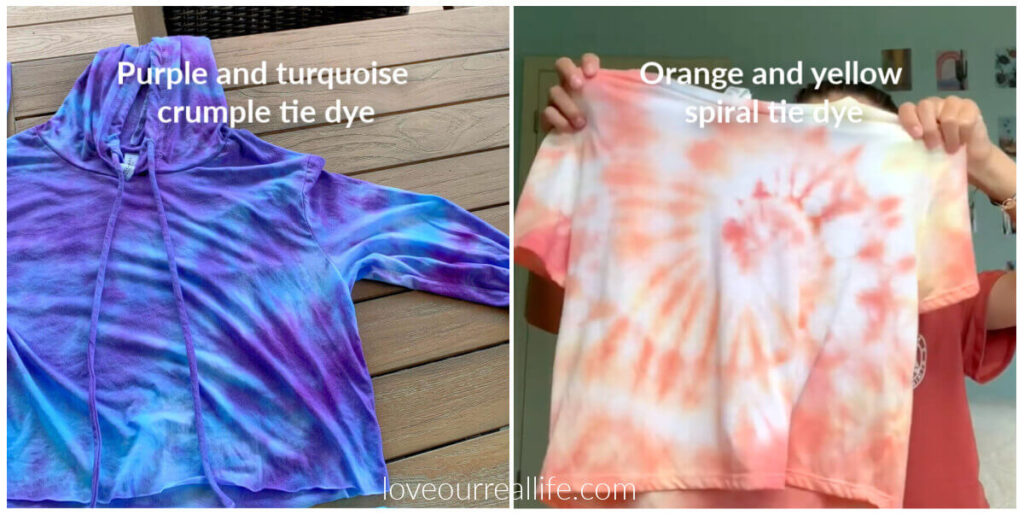 tie dye techniques / patterns with pictures