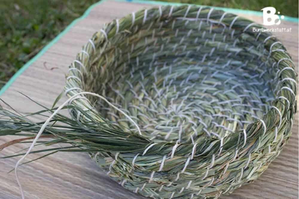 weaving grass basket