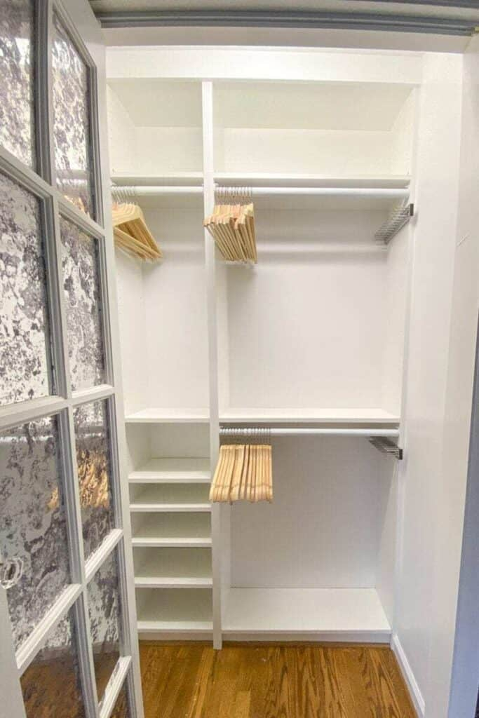 Billy bookcases in closet