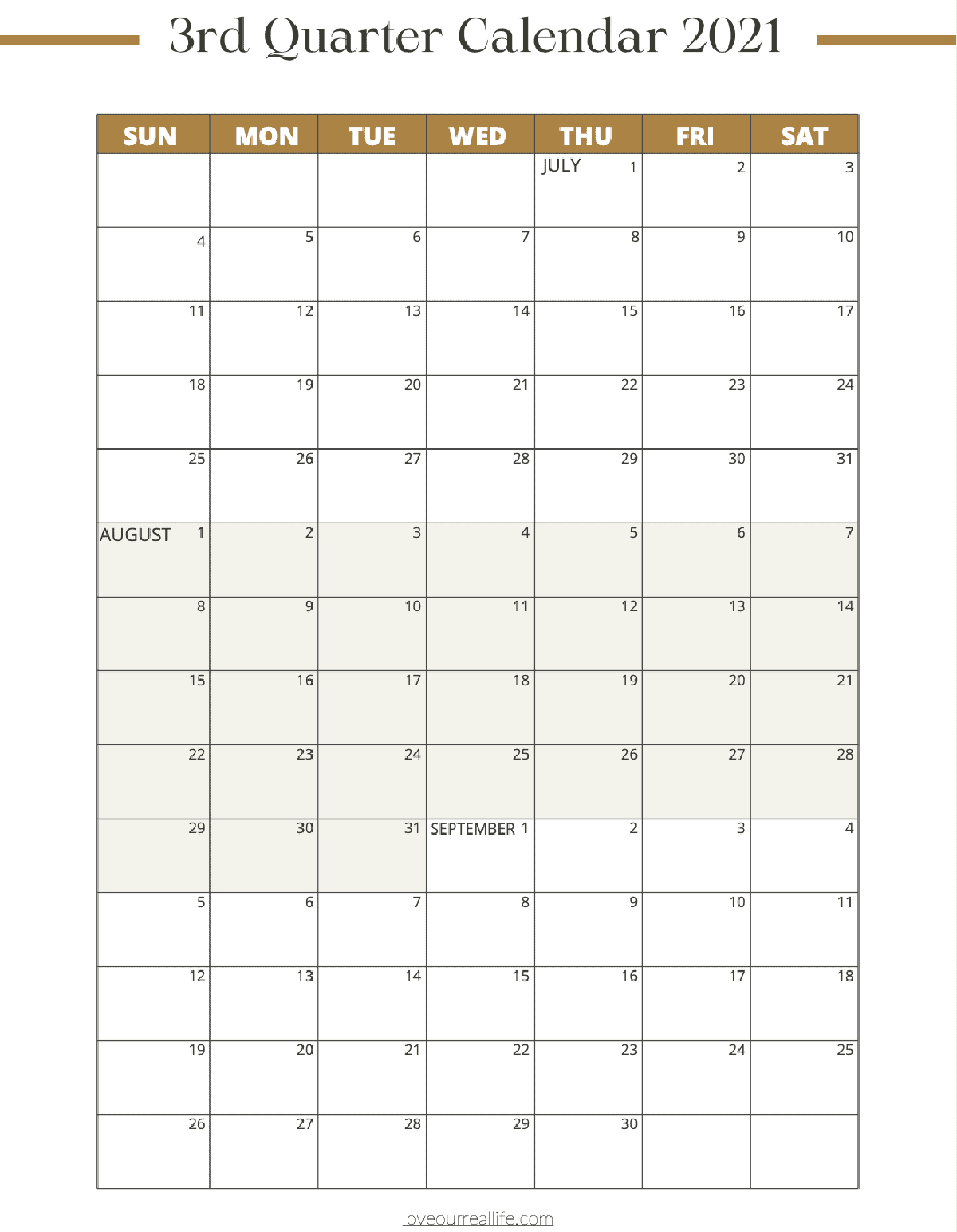 3 Month Calendar Printables 2021 And 2022 Love Our Real Life